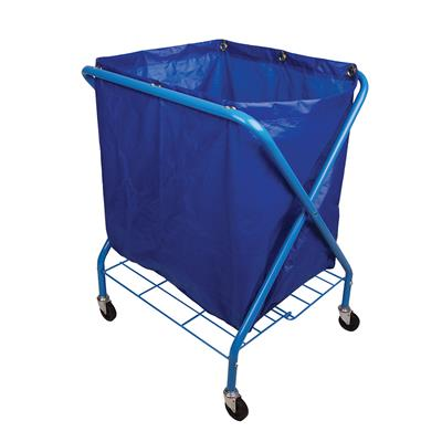 Folding Waste Cart & Blue Vinyl Bag