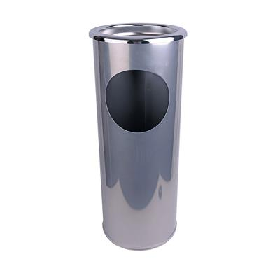 Combined Ashtray Stand & Litter Bin Silver